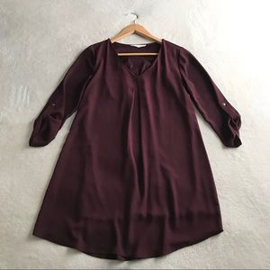 Lush Top/Blouse Plum Long sleeves Size XS
